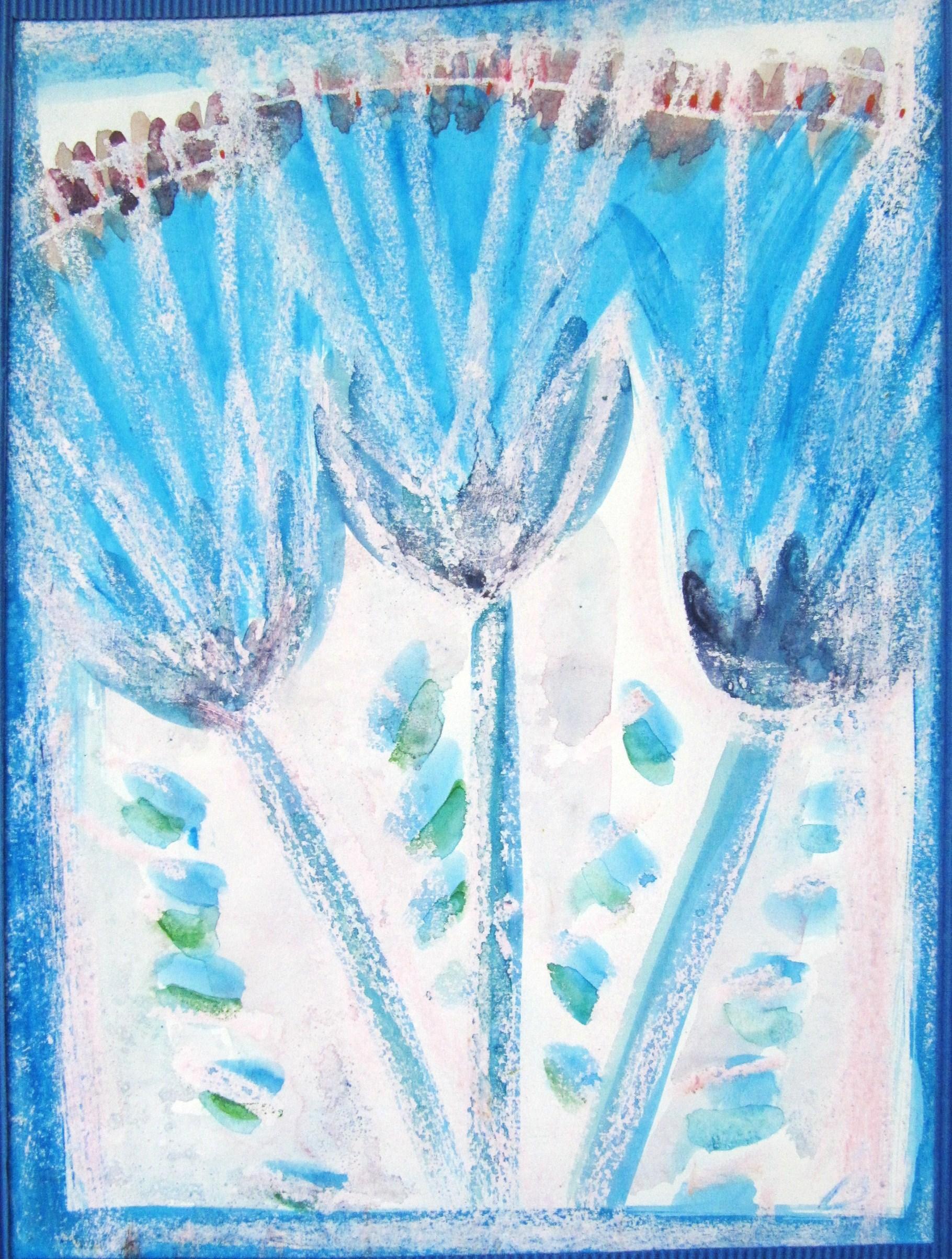 Peinture personnelle de lotus beus vers le centre for Peinture a l ancienne